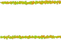 Colored lines green orange flowers white space between elements base spring. Card Stock Image