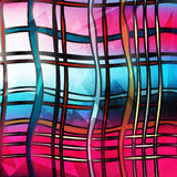 Colored lines on pink background geometric abstract pattern Stock Photos