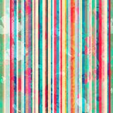 Colored lines seamless pattern with blots effect Stock Photography