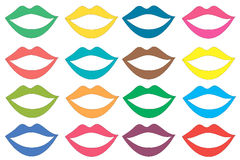 Colored lips set Royalty Free Stock Image