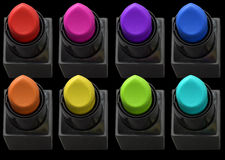 Colored lipstick Stock Image