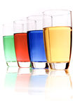 Colored liquids Stock Photography