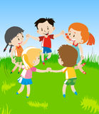 Colored  of little children Stock Photography