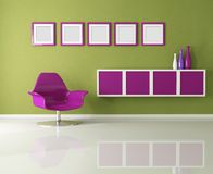 Colored living room Stock Photo