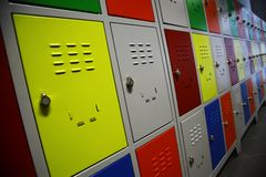 Colored Lockers Stock Images