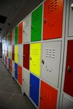 Colored Lockers Royalty Free Stock Images