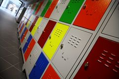 Colored Lockers Royalty Free Stock Photo