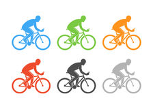 Colored logo cycling on a white background. Royalty Free Stock Photography