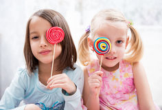 Colored lollipops Stock Images