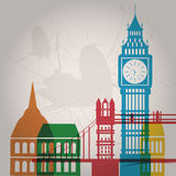 Colored london Royalty Free Stock Photos