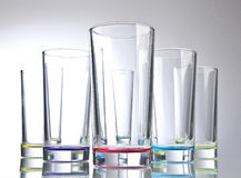 Colored long drink glasses Stock Photo