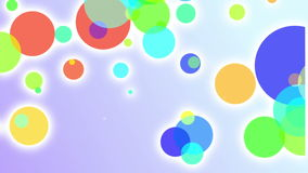 Colored looped particles on the christmas background stock video footage