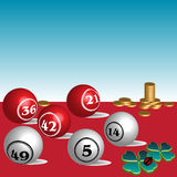 Colored lottery balls Royalty Free Stock Images