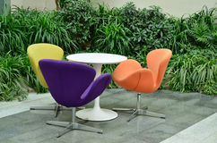 Colored lounge chairs Stock Photos