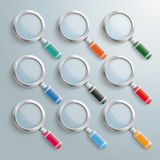 Colored Loupe Set Royalty Free Stock Photos