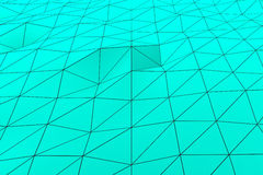 Colored low poly displaced surface with dark connecting lines Royalty Free Stock Image