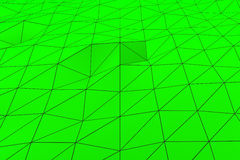 Colored low poly displaced surface with dark connecting lines Royalty Free Stock Images
