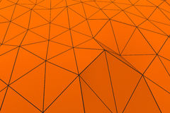 Colored low poly displaced surface with dark connecting lines Stock Photo
