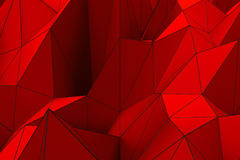 Colored low poly displaced surface with dark connecting lines. Abstract futuristic background made of polygonal shape. Colored low poly displaced surface with Stock Photography