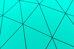 Colored low poly displaced surface with dark connecting lines Royalty Free Stock Photo