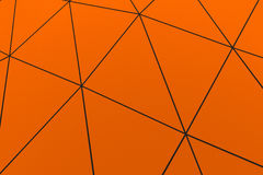 Colored low poly displaced surface with dark connecting lines. Abstract futuristic background made of polygonal shape. Colored low poly displaced surface with Royalty Free Stock Photo