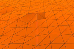 Colored low poly displaced surface with dark connecting lines Stock Photography