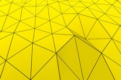 Colored low poly displaced surface with dark connecting lines. Abstract futuristic background made of polygonal shape. Colored low poly displaced surface with Royalty Free Stock Photography