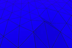 Colored low poly displaced surface with dark connecting lines Royalty Free Stock Photos