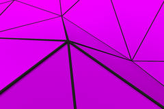 Colored low poly displaced surface with dark connecting lines Stock Images