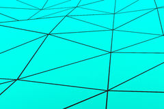 Colored low poly displaced surface with dark connecting lines Royalty Free Stock Photography