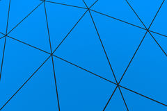 Colored low poly displaced surface with dark connecting lines. Abstract futuristic background made of polygonal shape. Colored low poly displaced surface with Royalty Free Stock Image