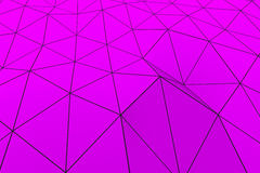 Colored low poly displaced surface with dark connecting lines Stock Image
