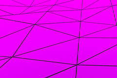 Colored low poly displaced surface with dark connecting lines Stock Photos