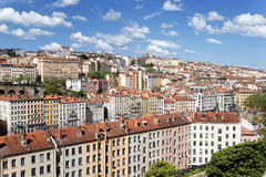 Colored Lyon district Royalty Free Stock Photography