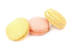 Colored macaron cakes. Royalty Free Stock Image