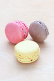 Colored macaron on wooden background. See my other works in portfolio Royalty Free Stock Photo