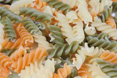 Colored macaroni Royalty Free Stock Photos