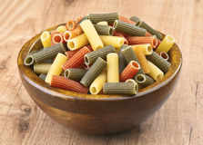 Colored macaroni Stock Photography