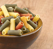 Colored macaroni Royalty Free Stock Image
