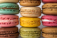 Colored macarons. stacked macaroons. Stock Images