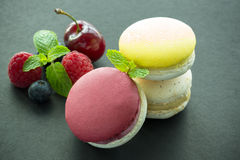 Colored macaroons Royalty Free Stock Photos