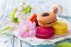 Colored macaroons Royalty Free Stock Image