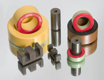Colored magnetic shapes stock photo
