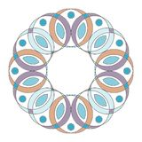 Colored mandala ornament  on white Royalty Free Stock Photography