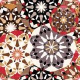 Colored mandala seamless vintage tribal seamless pattern grunge texture Royalty Free Stock Photography