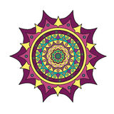 Colored mandala on a white background Stock Photography