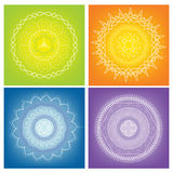 Colored Mandalas. Four colored mandalas togeather on the one pictures Stock Photos