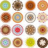 Colored mandalas Royalty Free Stock Image