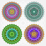 Colored  mandalas Stock Images