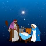 Colored manger illustration. Colored manger for christmas celebrations, Vector illustration Stock Images